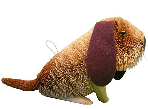 'Brush Art' nachhaltige Modell Animal, große sitzende Basset Hound Dog -