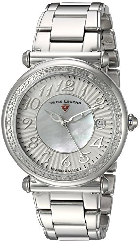 Swiss Legend Women's 'Bel Air' Quartz Stainless Steel Casual Watch, Color Silver-Toned (Model: 16330SM-22)