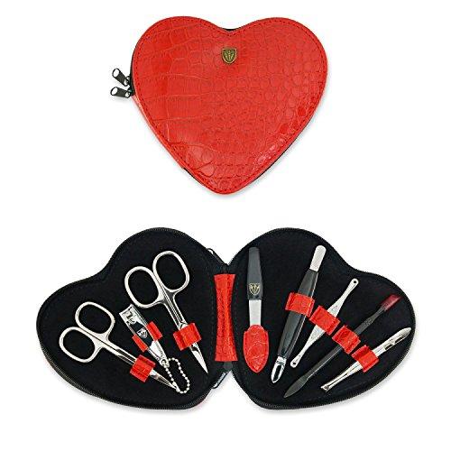 TROIS EPÉES | Kit / set / ensemble / trousse de manicure - manucure - pédicure - beauty / beaute - soins des ongles / personnels / mains / pieds | 8 pièces | marque de qualitè (000521)