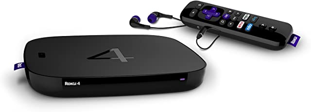 Roku 4400R Roku 4 Streaming Media Player 4K UHD with Voice Search (Black)