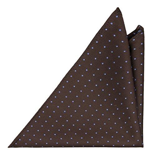 Preisvergleich Produktbild Notch Einstecktuch aus Seide für Herren - Braun mit hellblauen Punkten