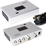 Scart-Stecker auf RF-Antennenkabel TV-DVD-Freeview-Modulator