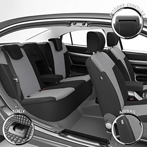 DBS 1012912 - Coprisedile per Auto, su Misura, Finitura di Alta qualità, Montaggio rapido, Compatibile con Airbag-Isofix-112912