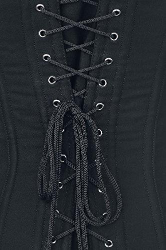 Alcatraz Plain Cotton Corset Corsetto nero Nero