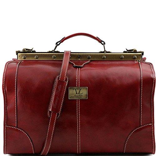 Tuscany Leather - Madrid - Borsa da viaggio in pelle - Misura piccola Rosso - TL1023/4 Rosso