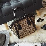 WOAIRAN Umhängetasche Frauen Handtasche Umhängetasche Mode Vintage Damen Einfache Freizeit Große Kapazität Shell Bag Crossbody Schwarz