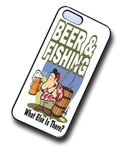sticar-it Ltd divertente birra & Fishing Angling hobby Cool hipster custodia rigida per Apple iPhone 55S