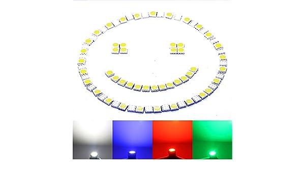 100 X SMD LED 5050 Chip einzeln kalt HIGHPOWER weiße SMD white Díode weiß