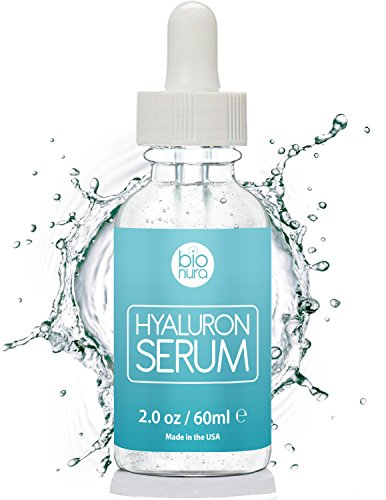 Bionura Hyaluronsäure Anti-Aging Gesichtsserum mit organischen Inhaltsstoffen, Vitamin C/E und Grüner Tee für alle Hauttypen, 1er Pack (1 x 60 ml)