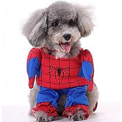 Disfraz de spiderman Hombre Araña para perro y gato (XS)