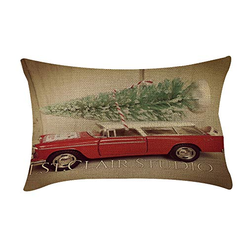 KonJin 20x12inch Cushion Cover, Elegant Sofa Bed Home Decoration Pillow Christmas Sofa Bed Home Decoration Festival Pillow Case Cushion Cover - Porch Rocker Cover