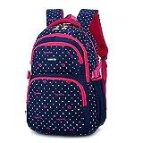 Schulrucksack für Mädchen,Kinder Schüler Schule Bookbag Lässiger Tagesrucksack Laptop Rucksack im Freien Reisetasche - Blau