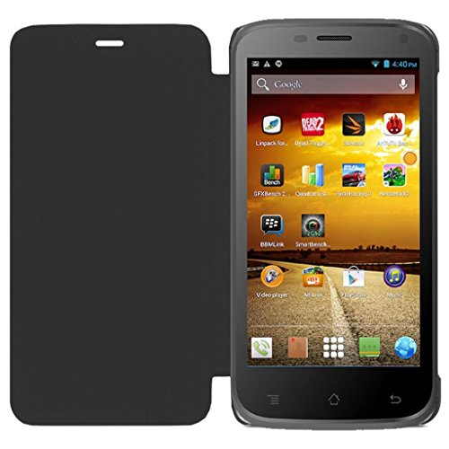 ECellStreet Flip Case Diary Folio Flap Case Cover For Micromax Bolt A82 - Black  available at amazon for Rs.195