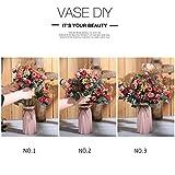 Luyue, Künstliche Seiden-Blumen-Sträuße mit 7Stielen und 21 Rosen, 2Stück Pink coffee - 5