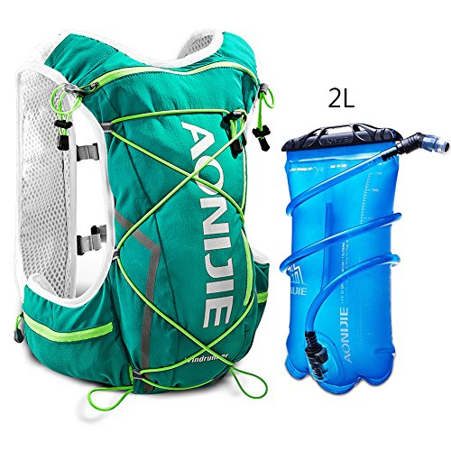 Imagen de aonijie senderismo ciclismo running   de hidratación con 2l bolsa de agua ligera , verde menta