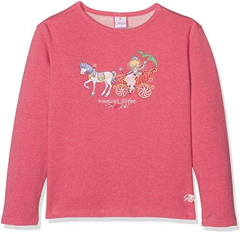 Prinzessin Lillifee by Salt & Pepper Mädchen Sweatshirt L Sweat Lillifee Kutsche, 75611260_822, Rosa (Teaberry Melange 822), 116/122