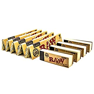 RAW [5 Packs Classic King Size Papers with [4 Booklets] Rolling Tips