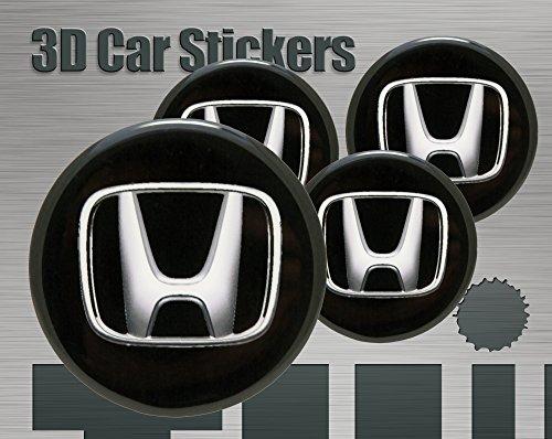 Adesivi-3D-Stickers-4-pezzi-Logo-Honda-Imitazione-Tutte-le-dimensioni-Centro-Cap-Wheel-Coprimozzo