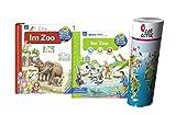 Ravensburger Kinder Sachbuch 4-7 Jahre | Im Zoo + aktiv-Heft - Malen | Rätseln | Basteln mit Kinder Weltkarte by Collectix
