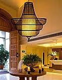 DDI Moderne Minimalist Kreative Pastoral Bambustee Wohnzimmer Restaurant Aisle Treppe Kronleuchter (fünf Modelle Optional) Hängeleine verstellbar (Stil : C)