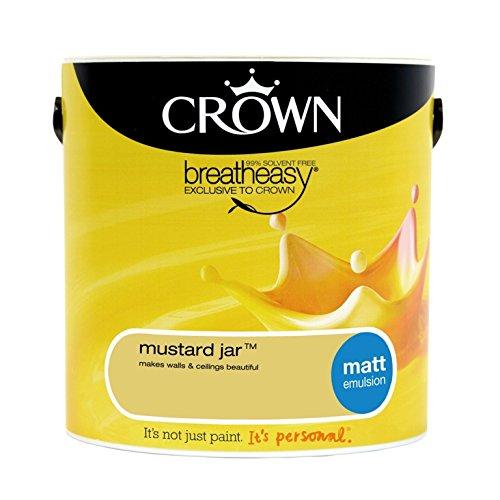Preisvergleich Produktbild Crown Matt Emulsion 2.5L Senf Jar