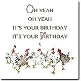 Fowl und Wacky Oh Yeah Geburtstag Huhn Grußkarte