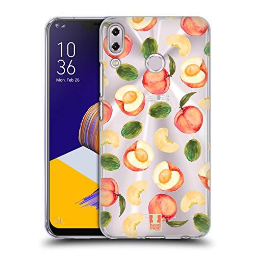 Head Case Designs Pfirsich-Muster Pfirsiche Soft Gel Hülle für ASUS Zenfone 5z ZS620KL / 5 ZE620KL
