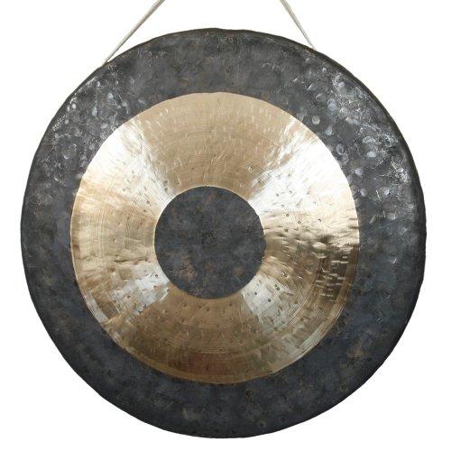 Original TamTam Gong / Whood Chau Gong 30 cm, toller Klang, inklusiv Holz-/ Baumwollklöppel -7037-L