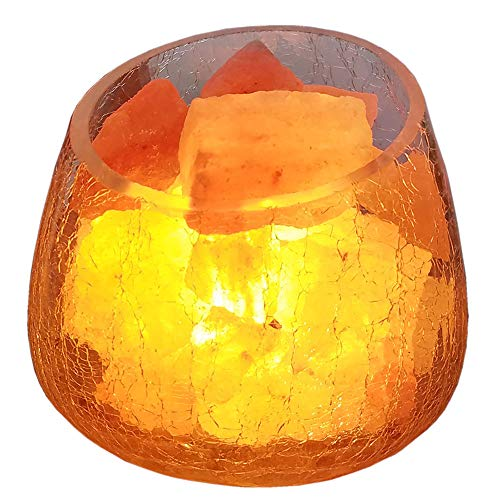 Handgefertigte Salz Lampe Handgeschnitzte Himalaya-Salzlampe, Dimmer-Schalter, Glasbehälter Ohne Rost Und Korrosion USB-Antrieb