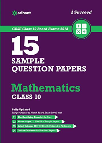 15 Sample Question Papers Mathematics for Class 10 CBSE