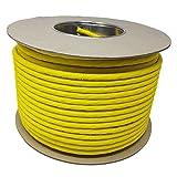 100,0 m - CAT. 7 A + ( Cat 8 ) Ethernet-Netzwerk-LAN-Kabel-Spule ( Drum ) 1500 MHz - 4 Paar - High Speed - Halogen frei/kupfer/Super schnell - (PoE)/PoE + (gelb)
