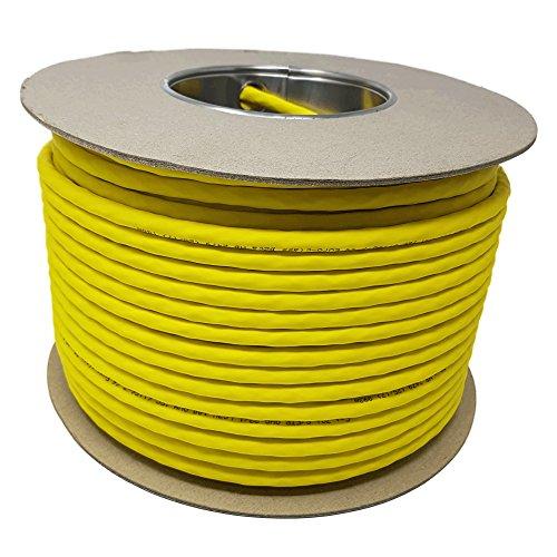 100,0 m - CAT. 7 A + ( Cat 8 ) Ethernet-Netzwerk-LAN-Kabel-Spule ( Drum ) 1500 MHz - 4 Paar - High Speed - Halogen frei/kupfer/Super schnell - (PoE)/PoE + (gelb) (Cat 100 6-ethernet-kabel Meter)