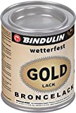 Bindulin Goldlack wetterfest Metallfarbe (125 ml)