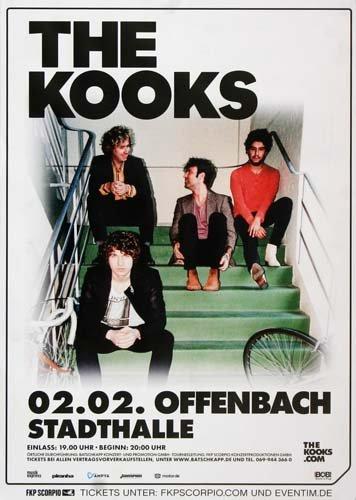 The Kooks - Down Live (2015) - Konzertplakat, Konzertposter