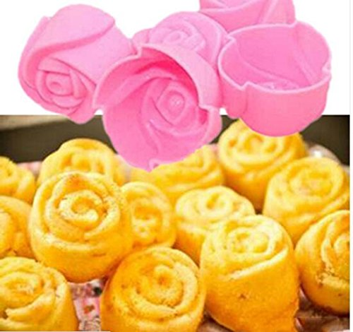 Silicone Rose - Real Stocked Soap Mold Christmas 1pcs Silicone Rose Muffin Cookie Cup Cake Baking Mould Chocolate - Candle Silicone Ring Molds Petals Straps Thin Rose Women Beads Soap Resin Rose Muffin