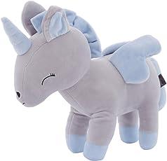 TOYMYTOY Unicorn Plush Toy Stuffed Animal Pillow Cushion Soft Toys for Baby Kids 30cm (Blue)