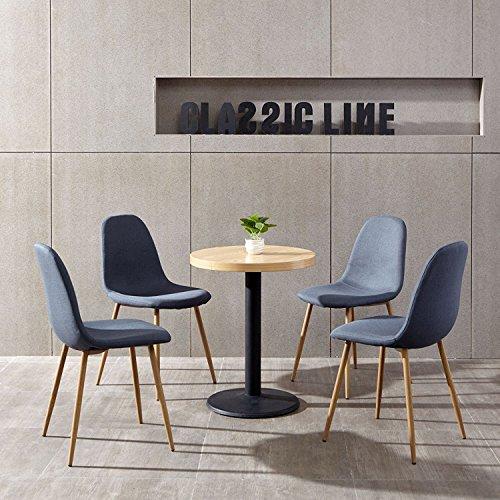 Aingoo Conjunto de 4 sillas de salón de diseño de diseño de...