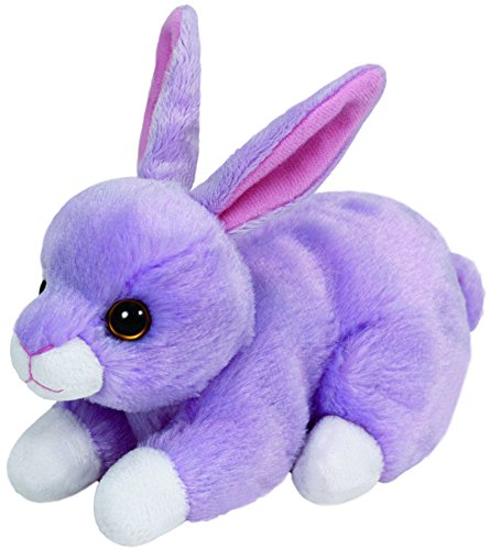 Carletto Ty 41702 - Lilac Beanie Babies, Ostern Limitiert Hase, 15 cm, violett