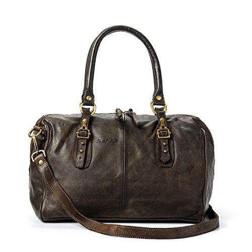 Ira del Valle, Frauentasche, echtes Leder, Vintage, Cordoba-Modell, Made in Italy (Braun) (Kroko Furla)
