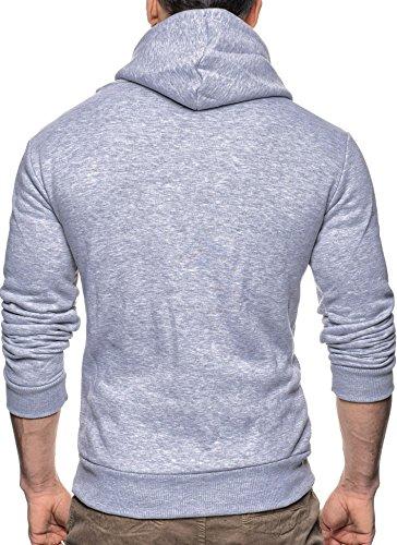 NELSON LEIF felpa uomo con cappuccio felpa sweat-shirt con cappuccio 2005 Grau