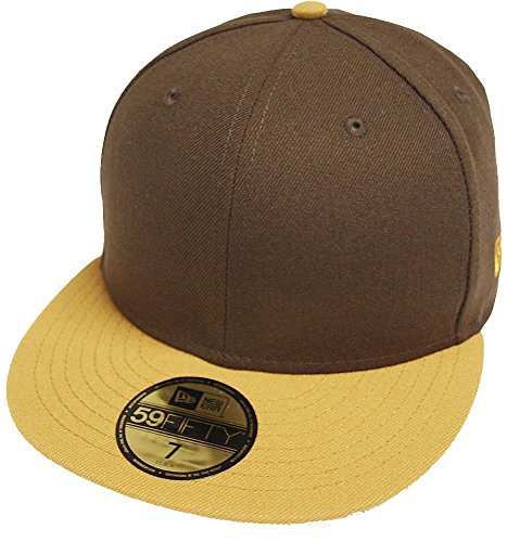 Two Tone Fitted Cap (New Era Brown Camel 2 Tone Blanc Blank 59fifty 5950 Fitted Cap Kappe Men)