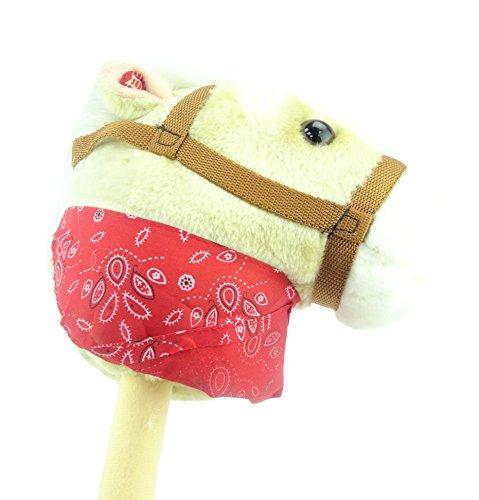 Creme Hobby Pferd mit Bandana und Sound - Pferd auf einem Stick - Kinder Spielzeug - Pferd Spielzeug (Pferd Stick Sound Mit)