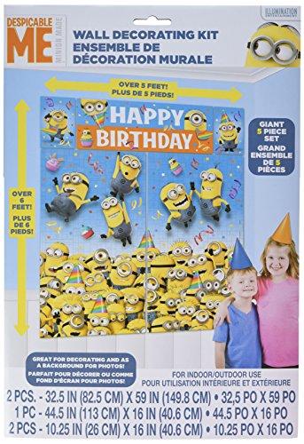 Minions 5 teiliges Poster Set - Happy Birthday Posterset mit den Minions