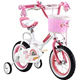 Royalbaby Girls' Jenny Kids Bike Bicycle stabilisers, Pink, 12""