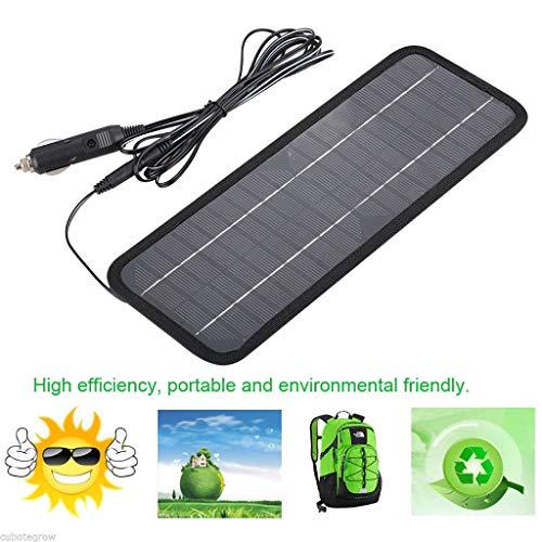 Jamicy® Solar Ladegerät 12 V 4.5 W Solar Panel Ladegerät mit Zigarettenanzünderstecker, Tragbare Solar Externer Ladegerät für Automobil, Motorrad, Traktor, Boot, RV, Batterien (Automobil-solar-ladegerät)