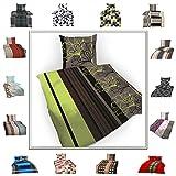 Superbetten-321 Top Bettwäsche Garnitur in Vielen Qualitäten und Größen mit RV in über 30 Verschiedenen Mustern (David, 135x200cm Baumwolle 4tlg)