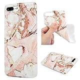 Kasos iPhone 7 Plus Marmor Hülle, Marble Handyhülle : Silikon Case Weich TPU Huelle mit IMD Technologie für Apple iPh