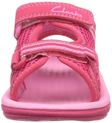 Clarks Star Games Fst, Sandales fille Rose (Pink Synthetic)