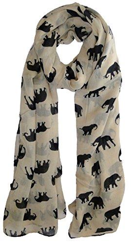 creme-elephant-noir-foulard-imprime-animal-femme-cadeau-mode-echarpe-avec-coeur
