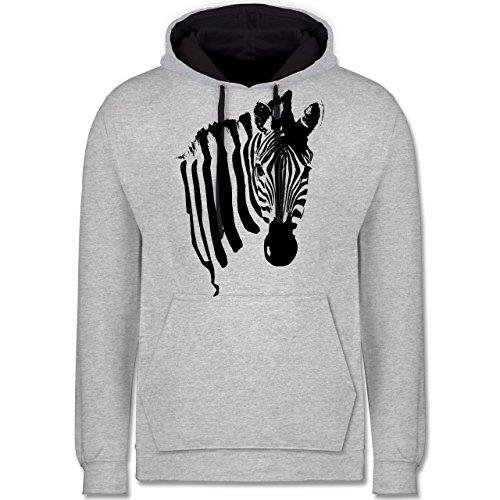 Shirtracer Wildnis - Zebra - S - Grau -